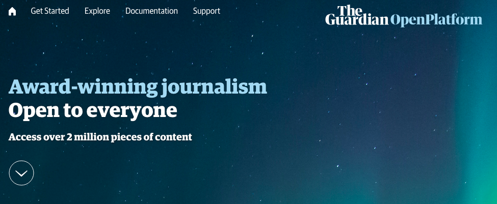 Open Platform de The Guardian
