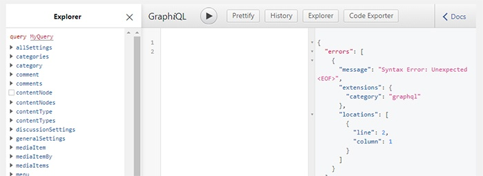 WordPress GraphQL